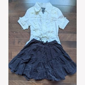 NWOT Children's Place outfit skirt and blouse